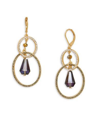 Lonna & Lilly Crystal Orbital Drop Earrings-PURPLE-One Size