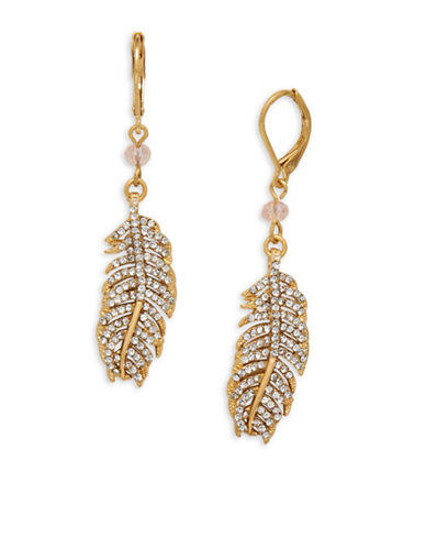 Lonna & Lilly Crystal Drop Earrings-GOLD-One Size