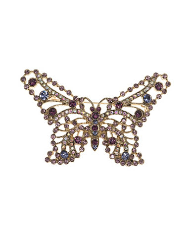 Cezanne Stellux & Crystal Boxed Butterfly Pin-PURPLE-One Size
