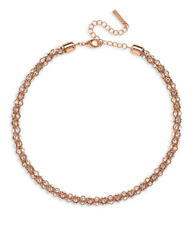 Cezanne Rose Goldltone Tube Collar Necklace-ROSE GOLD-One Size