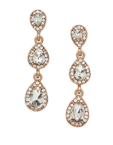 Cezanne Double Drop Earrings-ROSE GOLD-One Size