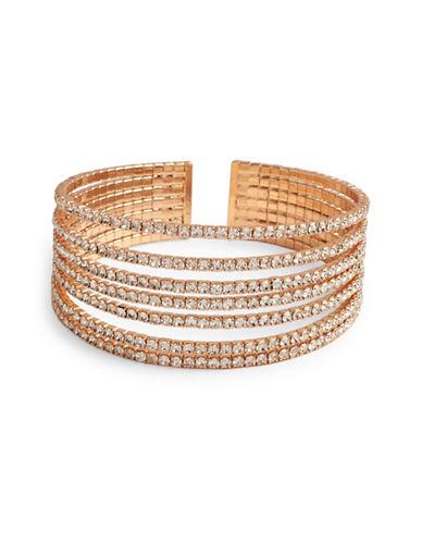 Cezanne Crystal Cuff Bracelet-ROSE GOLD-One Size