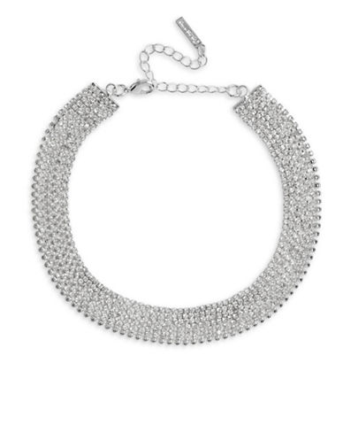 Cezanne Crystal Multi-Row Silver Choker-CRYSTAL-One Size