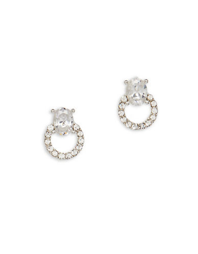 Cezanne Crystal Round Stud Earrings-CRYSTAL-One Size