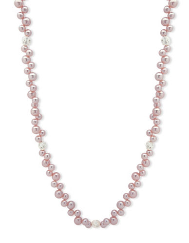 Anne Klein Beaded Pearl Necklace-PINK-One Size