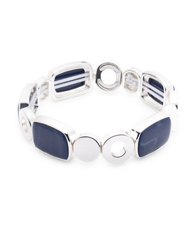 Nine West Denim Treasures Link Bracelet-BLUE-One Size