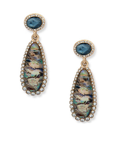 Lonna & Lilly Iridescent Skies Double Drop Earrings-MULTI-One Size