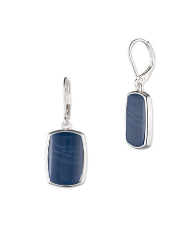 Nine West Denim Treasures Drop Earrings-BLUE-One Size