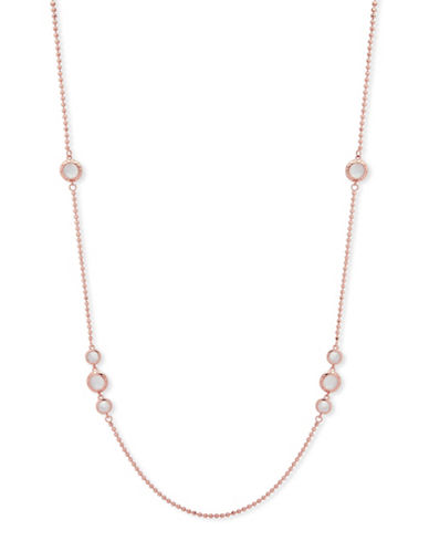 Anne Klein Spotlight Long Necklace-ROSE GOLD-One Size