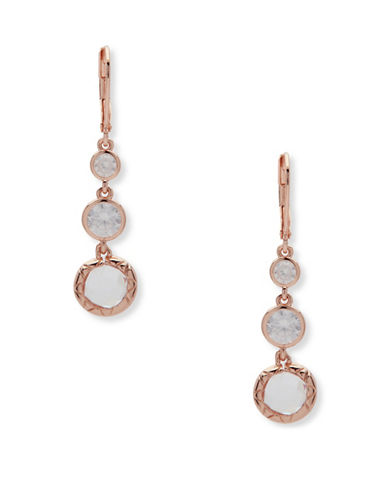 Anne Klein Spotlight Drop Earrings-ROSE GOLD-One Size