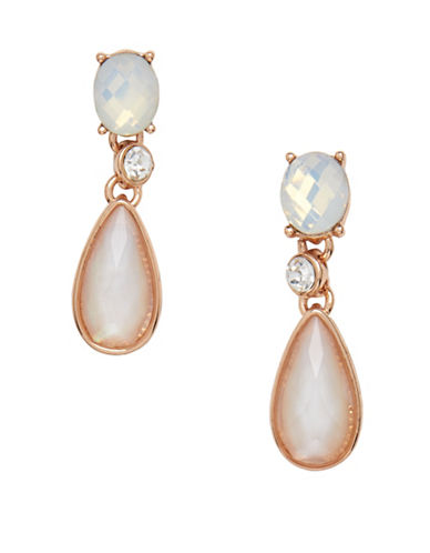 Anne Klein Aventura Rose-Goldplated Pearl Drop Post Earrings-WHITE-One Size