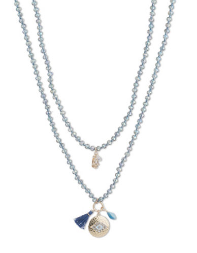 Lonna & Lilly Iridescent Skies Crystal Necklace-BLUE-One Size