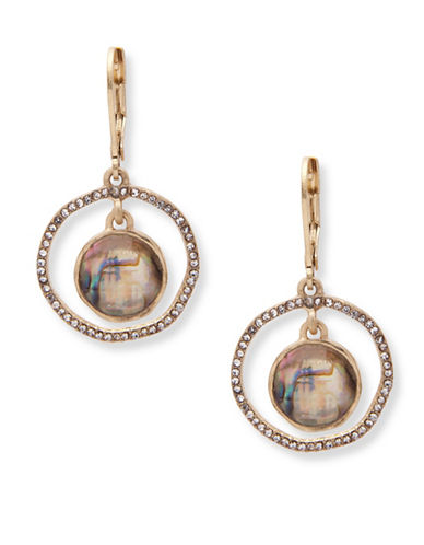 Lonna & Lilly Iridescent Skies Orbital Earrings-MULTI-One Size