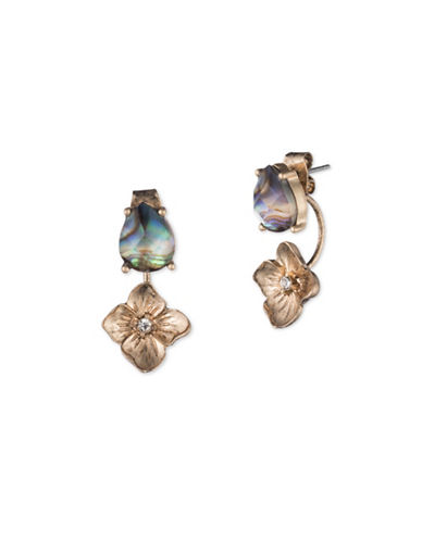 Lonna & Lilly Iridescent Skies Flower Floater Earring-MULTI-One Size