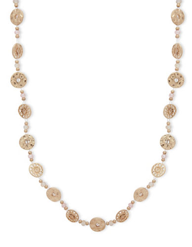 Lonna & Lilly Filigree Strand Necklace-PINK-One Size