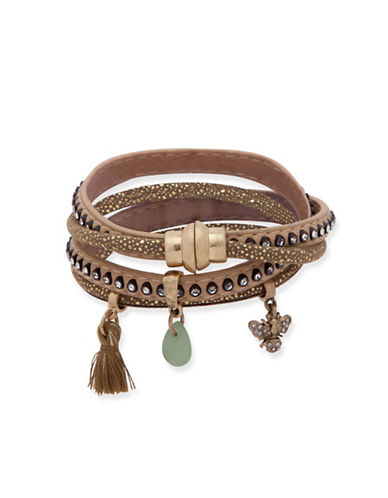 Lonna & Lilly Iridescent Skies Crystal Charm Bracelet-GOLD-One Size