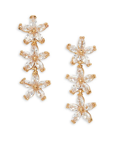 Cezanne Crystal Drop Earrings-GOLD-One Size