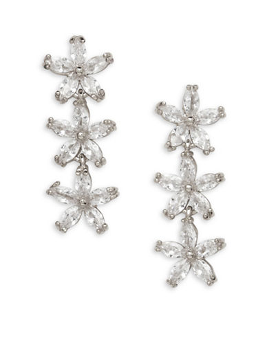 Cezanne Crystal Drop Earrings-SILVER-One Size
