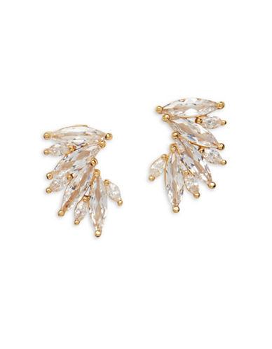 Cezanne Crystal Crawler Earrings-GOLD-One Size