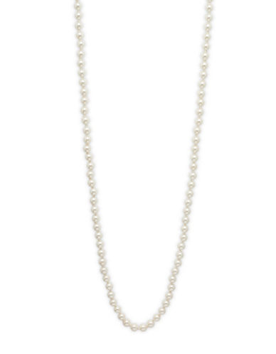Cezanne Faux Pearl Single Strand Necklace-IVORY-One Size
