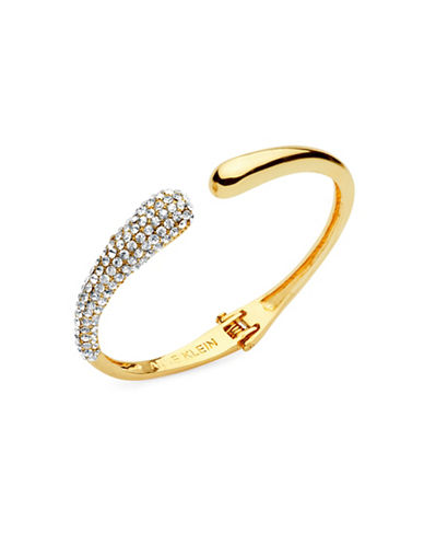 Anne Klein Boxed Goldtone Crystal Bangle-GOLD-One Size