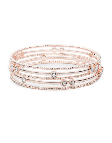 Anne Klein Boxed Crystal Bangle-ROSE GOLD-One Size