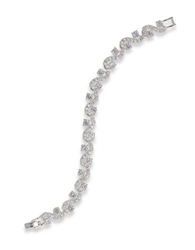 Anne Klein Crystal Beaded Bracelet-SILVER-One Size