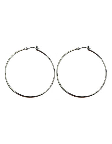 Nine West Large Hoop Earring-SILVER-One Size