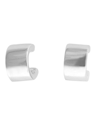 Nine West C Hoop Post Earring In Silver Tone Metal-SILVER-One Size