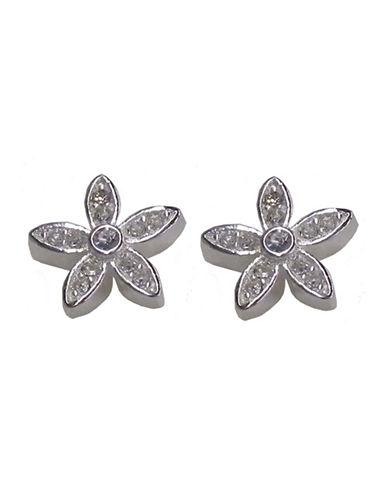 Nine West Flower Stud Earring-SILVER-One Size