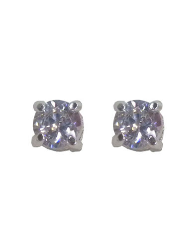 Nine West Crystal Stud Earring-SILVER-One Size