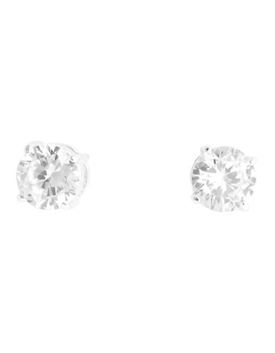 Nine West Round Button Earring-SILVER-One Size