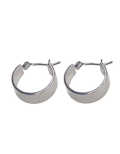 Nine West Small Thick Hoop Earring-SILVER-One Size