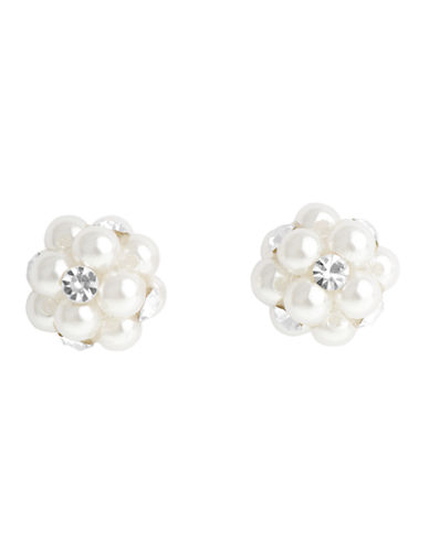 Cezanne Crystal Flower Earring-CRYSTAL-One Size