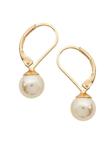 Cezanne Euro Wire Earring-WHITE/GOLD-One Size