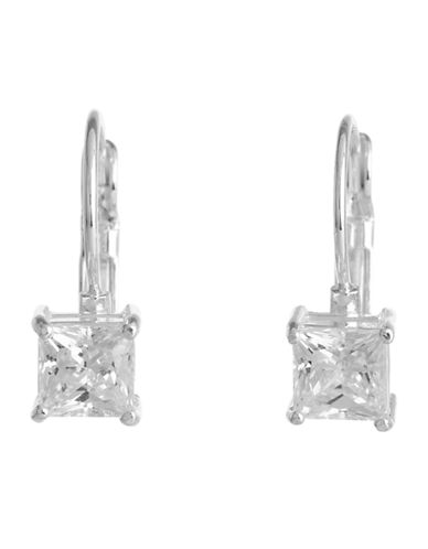 Nine West Euro Square Drop Earring-SILVER-One Size