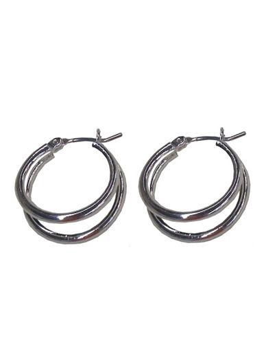 Nine West Double Hoop Earring-SILVER-One Size