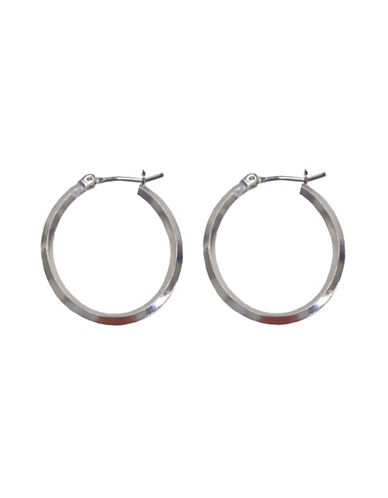 Nine West Silve Tone Hoop Earring-SILVER-One Size