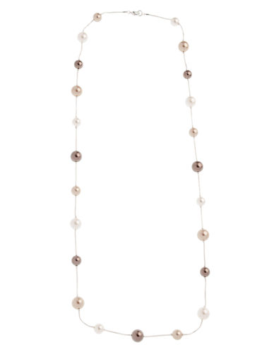Cezanne Cezanne Long Pearl Necklace With Stations-BEIGE-One Size