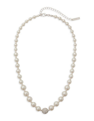Cezanne Graduated Fireball Necklace-IVORY-One Size