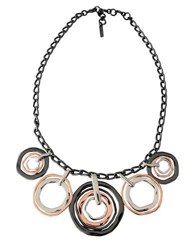 Nine West Nine West Tri Tone Multi Disc Necklace-TRI COLOUR-One Size