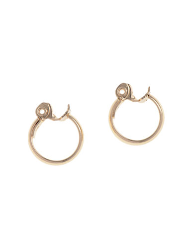 Anne Klein Large Clip Hoop Earrings-GOLD-One Size