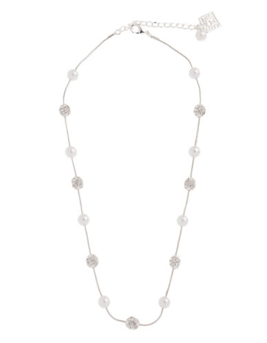 Anne Klein 16In Fireball and Pearl Necklace-PEARL-One Size