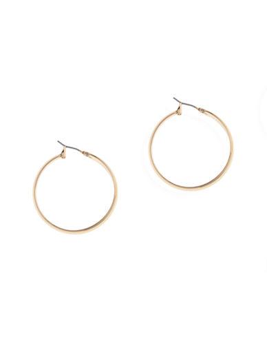 Anne Klein Pierced Wide Medium Hoop Earring-GOLD-One Size