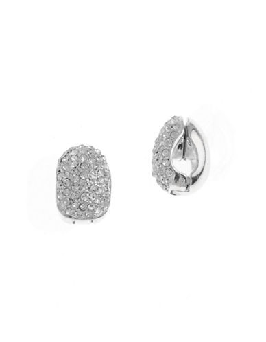 Anne Klein C Hoop Pave Clip Earring-CRYSTAL-One Size