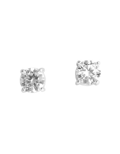 Anne Klein Facet Stud Crystal Earring-CRYSTAL-One Size