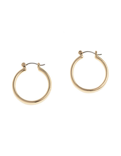 Nine West Pierced Medium Hoop Earring-GOLD-One Size