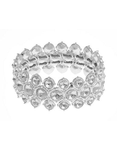 Cezanne Stretch Crystal Bracelet-IVORY-One Size