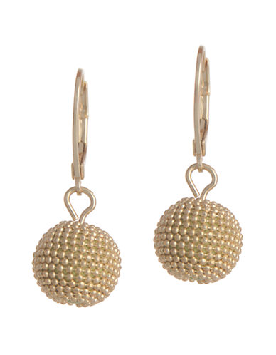 Anne Klein Leverback Ball Drop Earring-GOLD-One Size