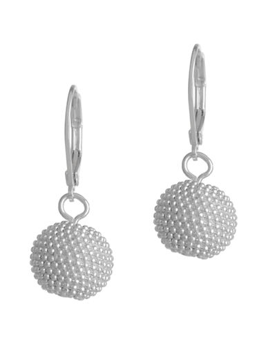 Anne Klein Leverback Ball Drop Earring-WHITE-One Size